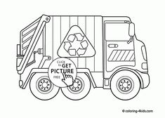 Cool Garbage Truck Coloring Page For Kids Transportation Pages Printables Free