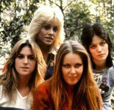 Sandy West, Cherie Currie, Lita Ford, and Joan Jett (Jackie Fox not pictured)
