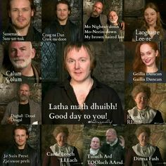 "Scottish..... yeah, the pronunciation of Laoghaire really threw me for a loop. I always mentally pronounced it ""Lag-o-hair"" in my head when reading the books."