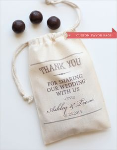 custom favor bags