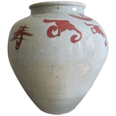 Shop antique and modern ceramics and other Asian furniture and art from the world's best furniture dealers. Modern Ceramics, Art Furniture, Asian Art, Red And White, Chinese, Pottery, Hand Painted, Vase, Antiques