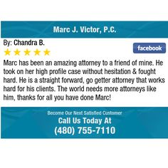 Marc has been an amazing attorney to a friend of mine. He took on her high profile case...