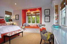 accent orange dans déco chambre à coucher