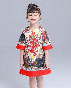 girl dresses summer tutu dress 2015 princess flowers lolita style big size korean kids wear birthday girls teenagers clothes