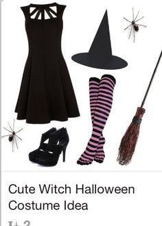 Fast and simple witch costume
