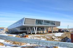India's Bharati Research Station, Antarctica  Antarctic Modernist Structure – design by bof Architekten + IMS (Germany)