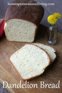Forage the backyard weed and make some homemade dandelion bread that is perfect with breakfast eggs or in the lunch box peanut butter and jelly sandwich.