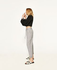 Image 2 of JOGGING TROUSERS WITH BOWS from Zara