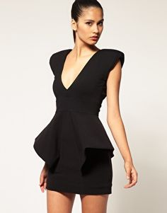 Peplum mini dress... Spring 2012