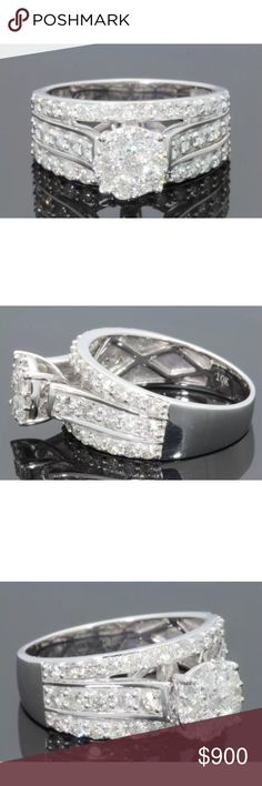 Gorgeous 1.70 carat 10k white gold diamond ring Gorgeous 1.70 carat 10k white gold diamond ring Jewelry Rings