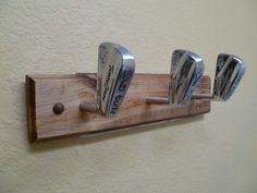 Vintage Tommy Armour Golf Club Heads Coat Rack by TheFletcherStudios on  Etsy Hat Racks 19fdff4a39e9