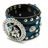 Blue Animal Print Fur Bracelet
