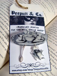 High Tea Brooch with name for guest of honor