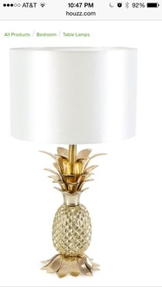 Zara Home pineapple lamp