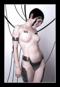 cyberpunk, futuristic art, girl, future, futurism, cyber, cyborg, cyber girl, nu, nude, fantastic, sci-fi, scifi, sci-fi girl, cyber girl, girl cyborg, cyberpunk girl, cyber punk