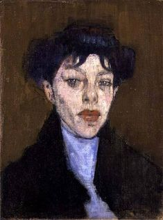 WOMAN WITH A BLUE SCARF - AMADEO MODIGLIANI
