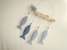 Décoration bord de mer , bois flotté et poissons : Accessoires de maison par mc-palf