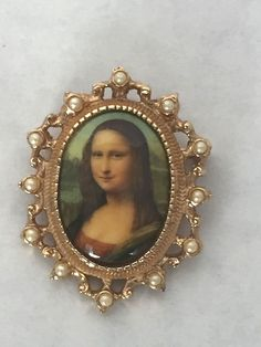 Vintage Sarah Coventry Mona Lisa Cameo Brooch Pin & Pendant C. Mid Century  #SarahCoventry