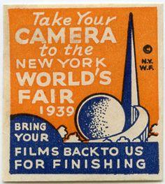 1939 New York World's Fair cinderella stamp.