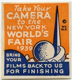1939 New York World's Fair cinderella stamp.