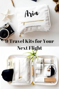 9 Travel Kits That Will Make a Long Flight Bearable 9 Travel Kits That Will Make a Long Flight Bearable,Travel Essentials The best travel comfort kits on the market for your next flight. Travel Items, Travel Luggage, Travel Bags, Travel Products, Suitcase Packing, Air Travel, Travel Packing Outfits, Travel Essentials For Women, Travel Necessities