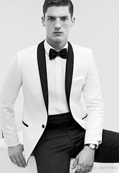 Discount Fashionable One Button Wedding Suits For Men Groom Tuxedos Shawl Collar Bridegroom Business Blazers Jacket+Pants+Bow+Vest AA14 Online with $75.4/Piece | DHgate