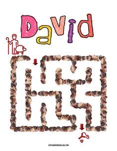 David el Pequeño Pastor - Laberinto para Niños Pequeños - Edith Lara and Edward Lara