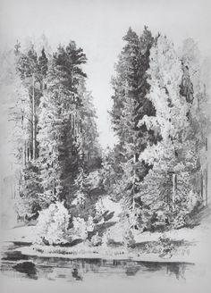 В парке. 1880-е. Шишкин Иван Иванович