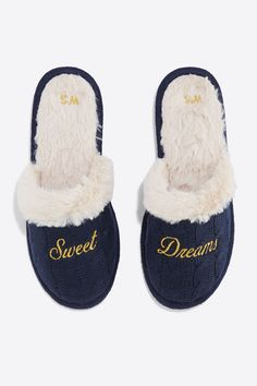 Womensecret Sweet, Dreams' printed slippers with furry lining printed