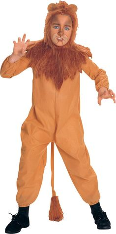 The Wizard of Oz Cowardly Lion Child Costume Description: One of our favorite characters from the hit movie! This officially licensed Wizard of OzT costume includes jumpsuit a