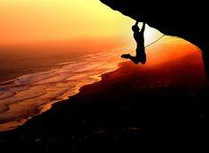 Hanging © Regy Kurniawan Rock climbing at Parangndog, Yogyakarta, Indonesia Silhouette Photography, Picture Blog, Escalade, Ice Climbing, Amazing Sunsets, Amazing Nature, Sunset Pictures, Parkour, Plein Air
