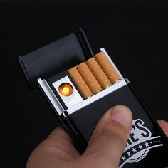Cigarette Box With USB rechargeable Lighter