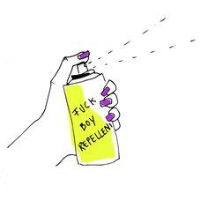 #fuckboyrepellent #illustration #hand #spray