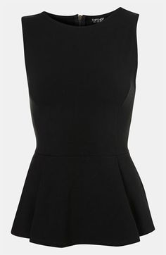 Topshop Peplum Tank available at #Nordstrom