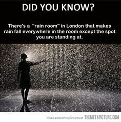 Control the weather in the Rain Room at the Curve, Barbican Centre, London Places to travel 2019 If this is true, it is now on my bucket list. Oh The Places You'll Go, Cool Places To Visit, Places To Travel, Travel Stuff, The Last Summer, Wow Art, Just Dream, Before I Die, I Want To Travel