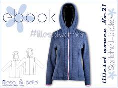 Schnittmuster / Ebook lillesol women No.21 Softshelljacke / Nähen Jacke / sewing pattern Softshell jacket