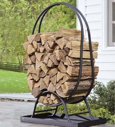 Easy and Creative DIY Firewood Rack and Storage Ideas tag: outdoor firewood rack ideas, firewood storage rack ideas, indoor firewood rack ideas, firewood rack cover diy, ideas for firewood rack. Indoor Firewood Rack, Firewood Holder, Firewood Storage, Into The Woods, Firewood Carrier, Wood Cart, Stove Accessories, Cheap Sheds, Run In Shed