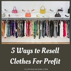 5 ways to resell clothes for profit Thrift Store Outfits, Thrift Store Shopping, Thrift Store Finds, Cheap Shopping, Thrift Stores, Ebay Selling Tips, Selling Online, Selling Apps, Making Money On Ebay
