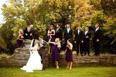 Wedding Party. Purple. Photo by Casey Fatchett - www.fatchett.com
