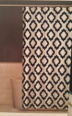 Fabric Shower Curtain Moroccan Print Grey Blue Navy Green 70 X 72 Comfort  Bay #ComfortBay