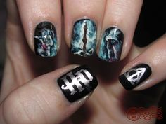 Harry Potter nails by the fabulous Melissa at The Daily Nail.