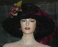 Kentucky Derby Hat Edwardian Hat Ascot Hat Downton Abbey Hat