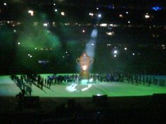 Rugby World Cup opening ceremony At Eden Park in Auckland NZ 2011