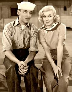 "Fred Astaire and  Ginger Rogers - Follow the Fleet ""We joined the navy to some girls. And what did we see? We saw the Sea...' the only Fred Astaire song that makes me giggle..."
