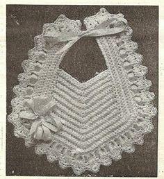Little Grey Bungalow: Crochet - a Bib from 1915
