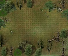 Encounter map ((horrible website and poor quality, but quicker than making your own version)) Dungeon Tiles, Dungeon Maps, City Landscape, Fantasy Landscape, Fantasy Rpg, Medieval Fantasy, Terrain Texture, Fantasy Map Maker, Forest Map