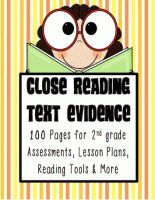 2nd Grade Common Core Toolkit: Close Reading and Text Evidence