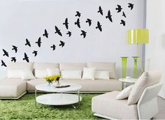 Flock Of Flying Birds Wall Stickers Bird Wall Decal by Wallboss on Etsy https://www.etsy.com/uk/listing/117764423/flock-of-flying-birds-wall-stickers-bird