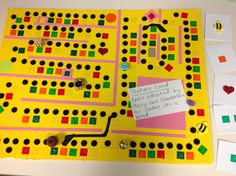TEXTURE LAND...a game adapted by Merry-Noel Chamberlain, TVI, that follows the same rules as Candy Land. Great for individuals who are blind or low vision....Great pre-Braille skills. Use Peel & Feel stickers from APH.