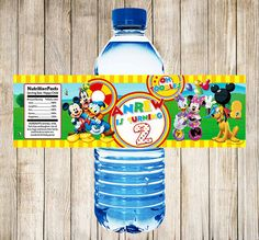 Mickey Mouse Clubhouse Water Bottle Labels by KidyParty on Etsy